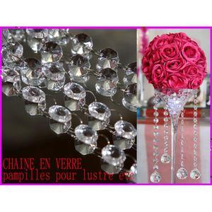 Décors de table Chaîne verre guirlande décoration mariage MDC2 5 m