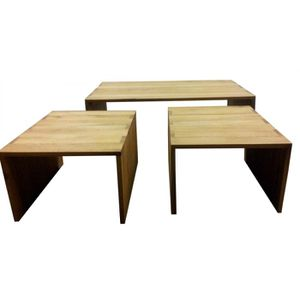 table basse gigogne achat vente table basse gigogne pas cher cdiscount. Black Bedroom Furniture Sets. Home Design Ideas