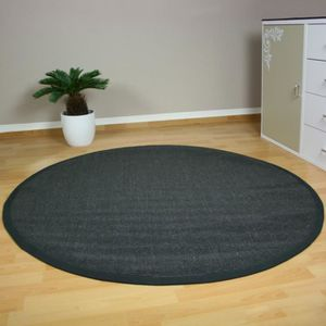 tapis de sisal fibre naturelle ronde gris 180 cm achat vente tapis cdiscount. Black Bedroom Furniture Sets. Home Design Ideas