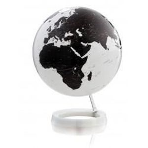 lampe globe terrestre design blanc noir sur soc achat. Black Bedroom Furniture Sets. Home Design Ideas