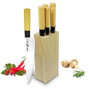 COUTEAU DE CUISINE  BACKEN 310602 - Bloc Couteaux de cuisine 6 pièces
