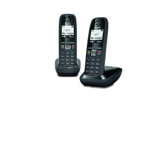 Téléphone fixe Gigaset AS470 Duo - Téléphone fixe sans fil - 2 co
