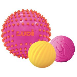 BALLE - BOULE - BALLON LUDI 3 Balles Sensorielles Roses