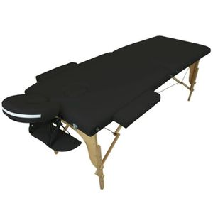 Table de massage Table de massage pliante 2 zones en bois avec pann