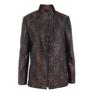 VESTE Blazer jacquard animal... Bronze