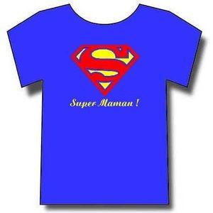 T-SHIRT T-shirt Super Maman, superman Humoristique.Tee-shi