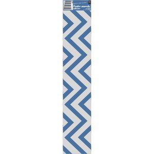 STICKERS PLAGE Sticker Contremarche adhésive- Chevrons bleu