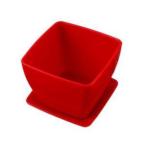 JARDINIÈRE - BAC A FLEUR Petit pot de fleurs carré en plastique, pot de fle