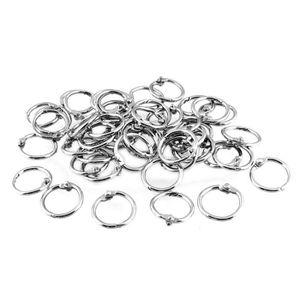 100 pièces Clé Anneaux 38mm nickelés durcis porte cle split key ring