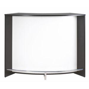 MEUBLE BAR Grand comptoir de bar Noir - DAEMAR n°5 - L 135 x