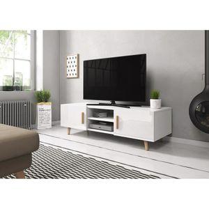 MEUBLE TV VIVALDI Meuble TV - SWEDEN 2 - 140 cm - blanc mat