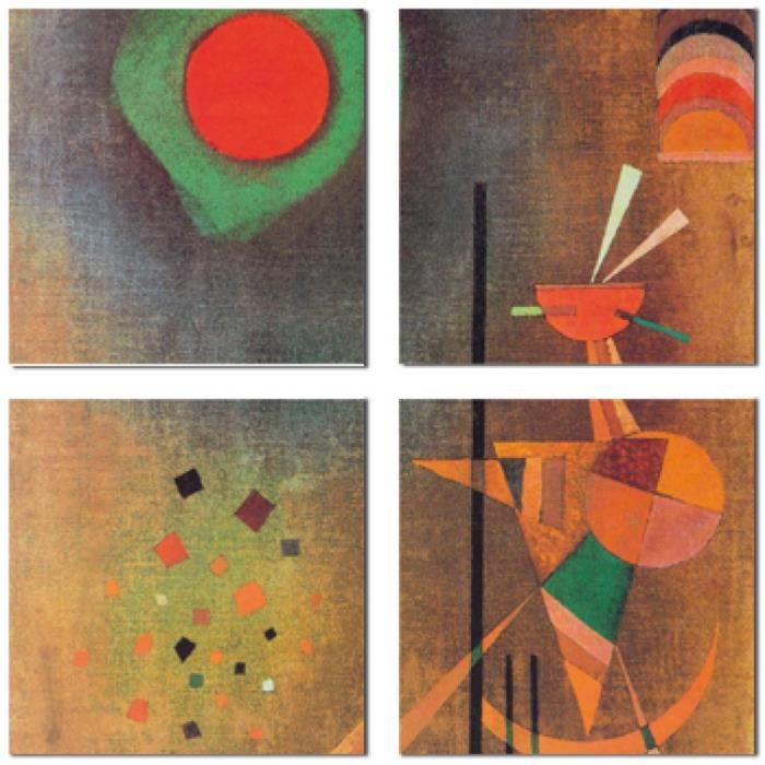 vassily kandinsky poster reproduction sur toile tendue sur ch ssis illumination 1927 4. Black Bedroom Furniture Sets. Home Design Ideas