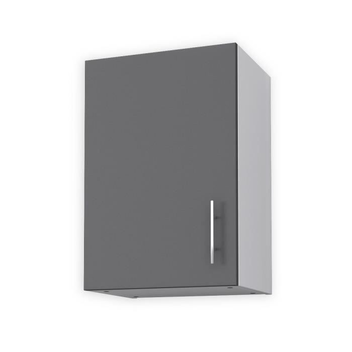 obi meuble haut de cuisine l 40 cm gris mat