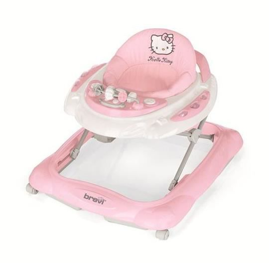 pret a porter bebe puericulture hello kitty trotteur skylab rose f