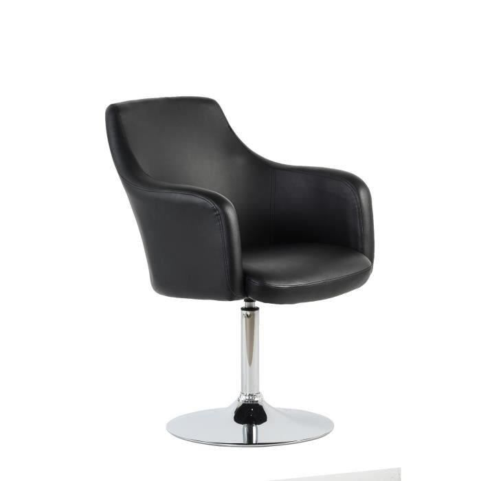 fauteuil chaise de salon noire design cab achat vente fauteuil noir rev tement simili. Black Bedroom Furniture Sets. Home Design Ideas