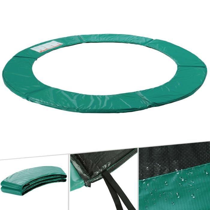 Arebos Coussin de protection des ressorts pour trampoline 305cm vert
