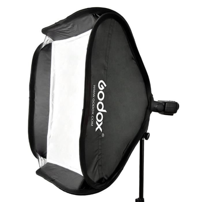 Godox 80 * 80cm / 31 -* 31- flash Softbox Diffuseur de type S Support boîtier Bowens pour Speedlite Flash Light