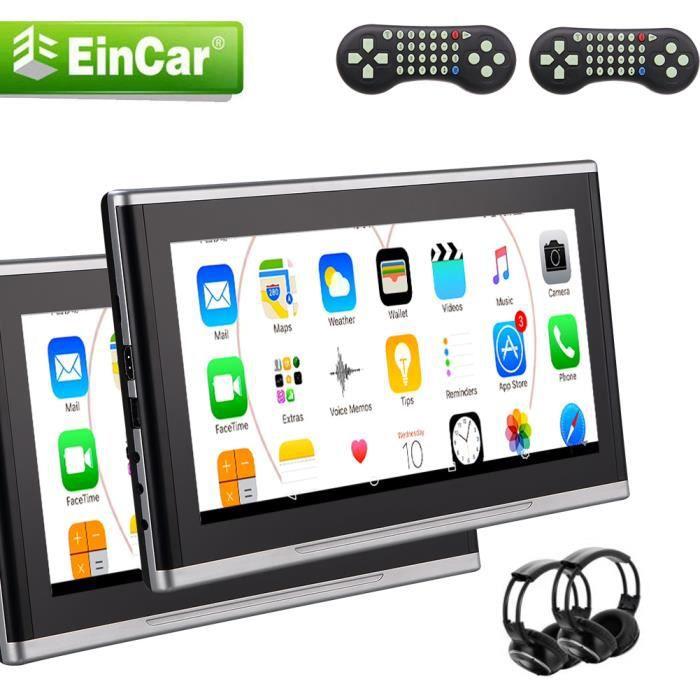Double 2PCS voiture 10,1 pouces Têtière Grand écran LCD voiture lecteur DVD - Multimédia Télécommande Siège appuie-tête USB SD IR