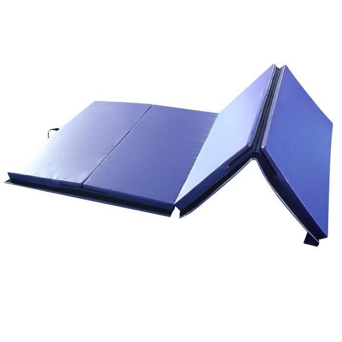 Tapis de Yoga portable grande taille 240*120*5cm BLEU