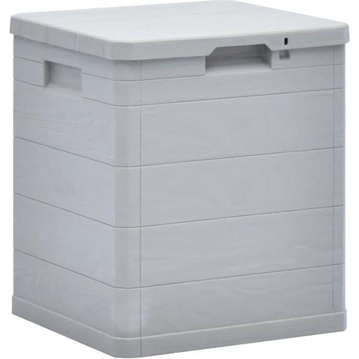 OH LA Malle de rangement - Fantastique -Boîte de rangement-Banc Coffre D'extérieur Armoire Jardin Intérieur 90 L Gris clair773