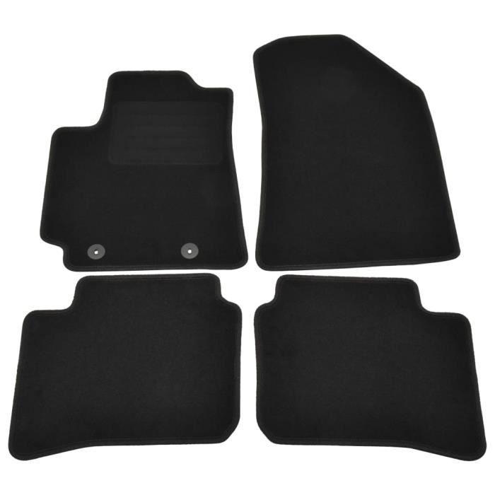 Magnifique Lot de 4 Tapis d'auto Design - Tapis de voiture Tapis pour véhicules pour Hyundai I10 Hybrid @27703