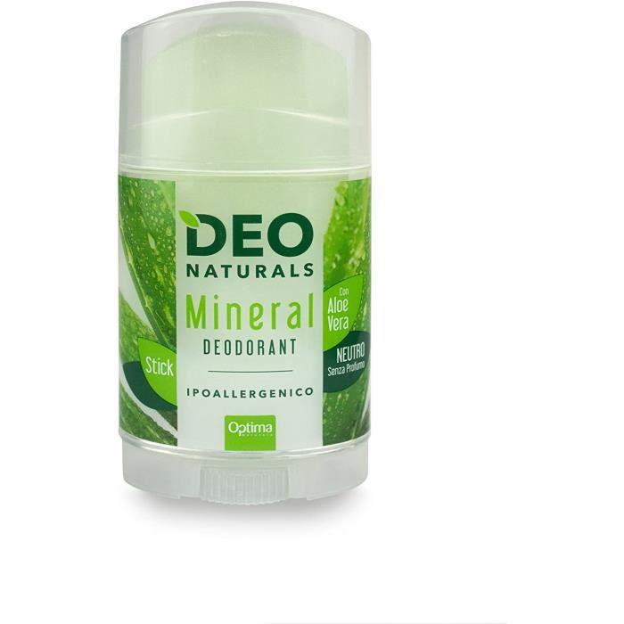 Déodorants et anti-transpirants Optima Dénaturas Déodorant Minéral Neutre avec Aloe Vera Hypoallergénique 100 g 73137