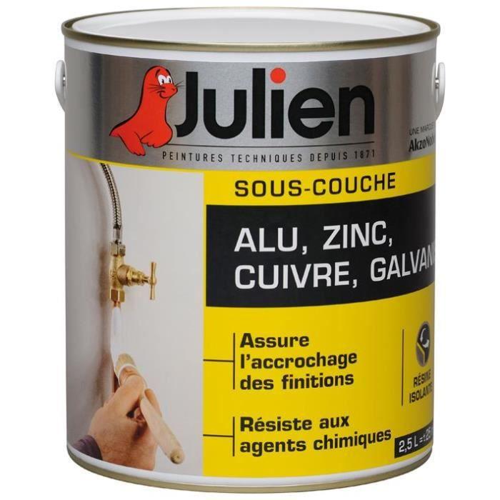 JULIEN Peinture sous couche J1 alu-galvanisé - 2,5 L