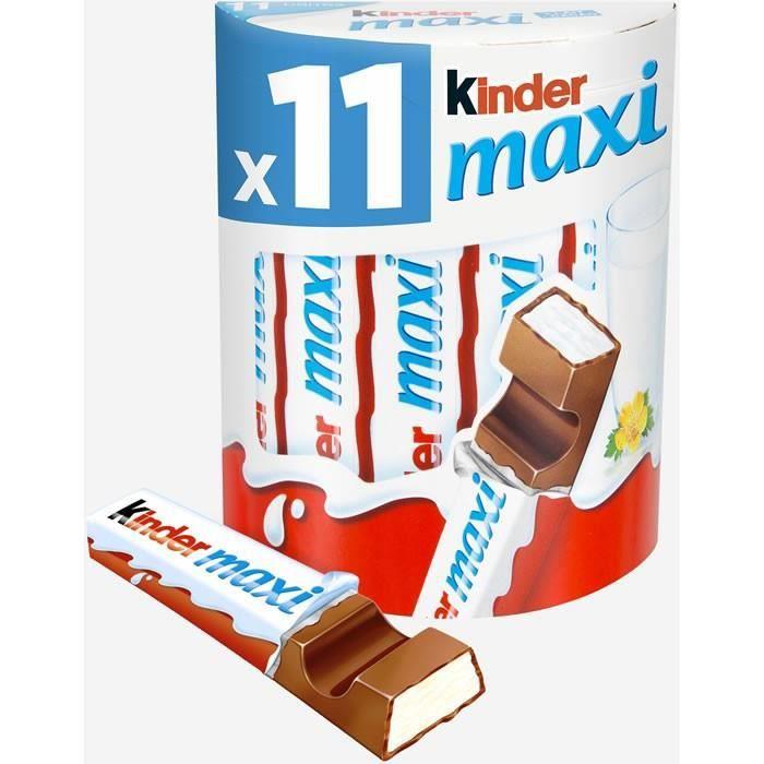 KINDER : Maxi - Barres au chocolat au lait 11 x 21 g