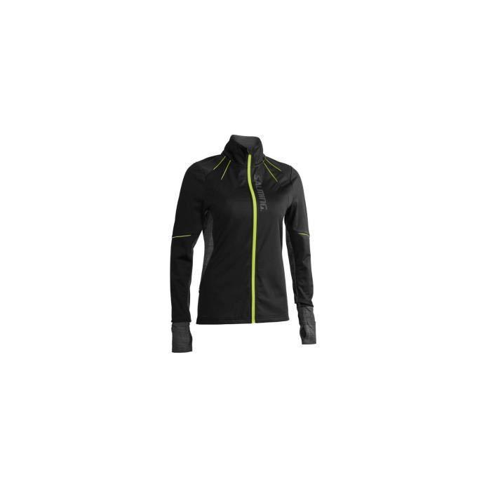 Veste Running SALMING Femme Thermal Wind Jacket Noir / Jaune AH 2019
