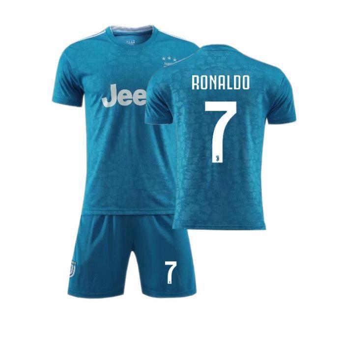 Juventus No. 7 Cristiano Ronaldo Maillot et Shorts de football - Blue