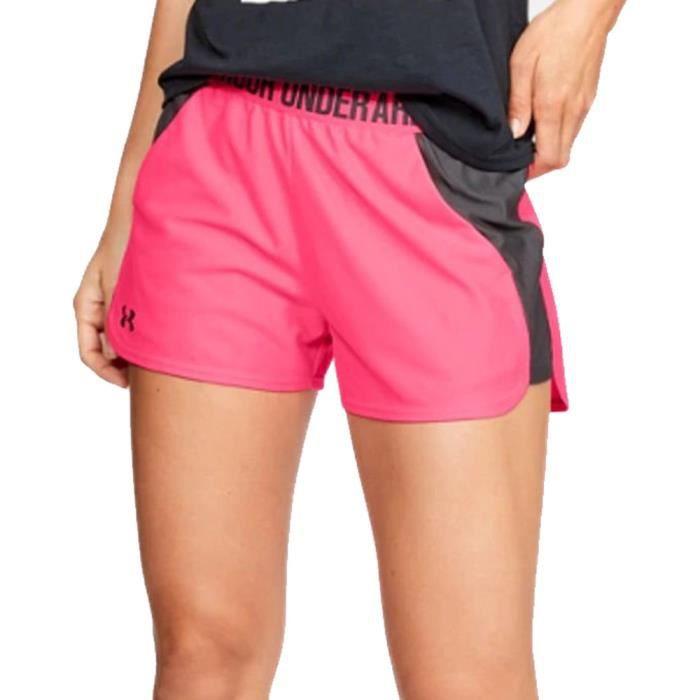 Under Armour Femmes Play Up Entraînement Gym Fitness Short Rose Sport Respirant