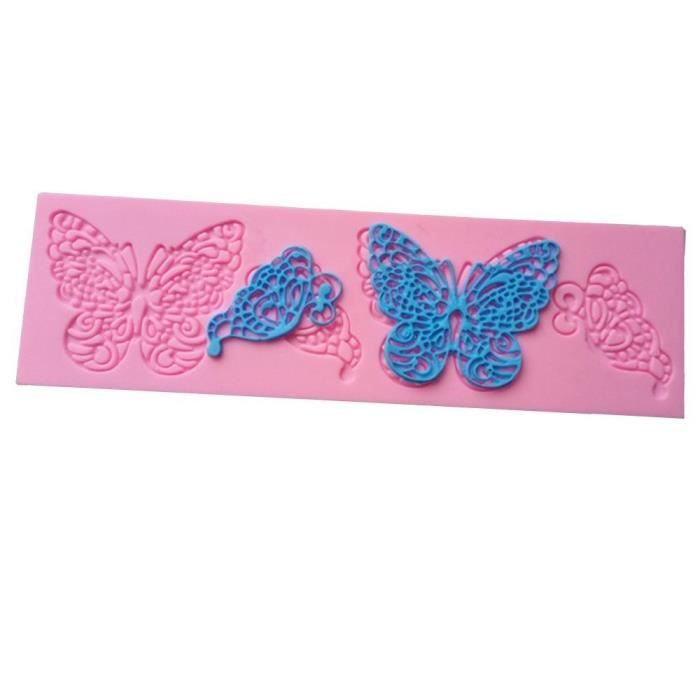 2pcs Forme de Papillon Moule en silicone Dentelle Moules à gâteaux Fondant outils outils de décoration de gâte