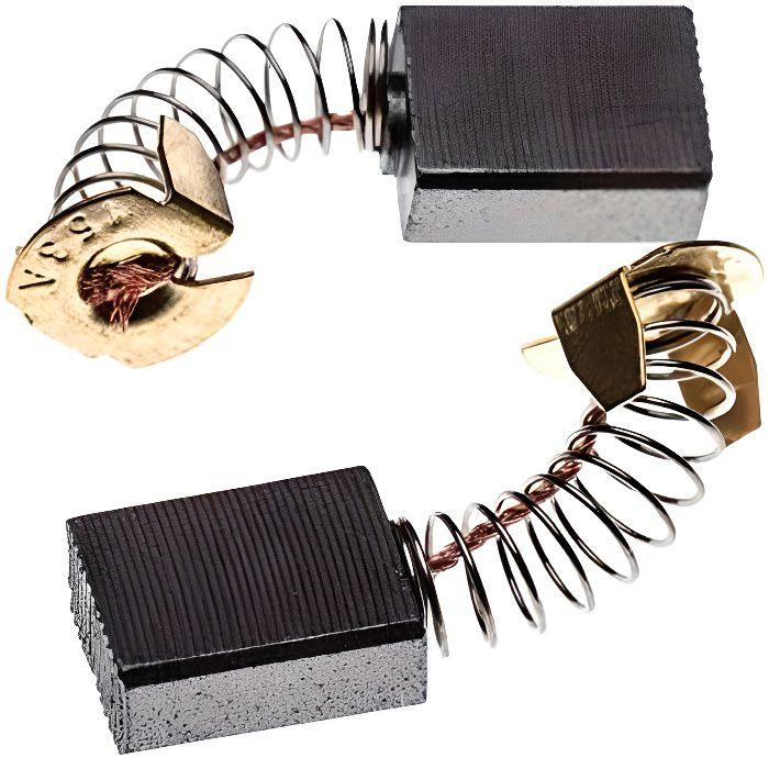 vhbw 2x balai de charbon pour moteur électrique 6,5 x 13,5 x 17mm compatible avec Makita 5008MG, 5377MG, LS1011, LS1013F, LS1013FL o