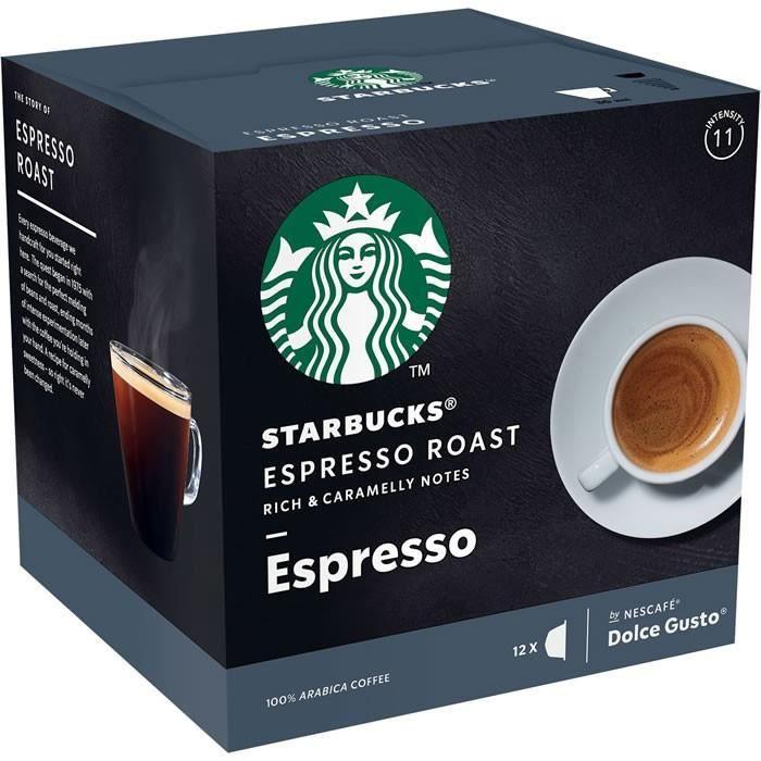 LOT DE 24 - Starbucks - 12 Capsules de café espresso roast