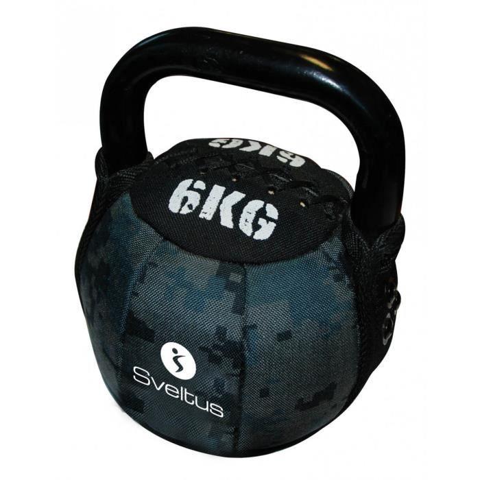 Soft kettlebells Sveltus 6 kg - noir-gris - TU
