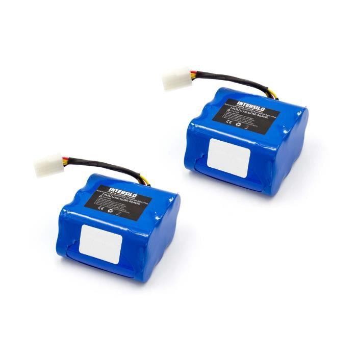 INTENSILO 2x Li-Ion batterie 6000mAh pour robot aspirateur Neato XV signature pro, XV-11