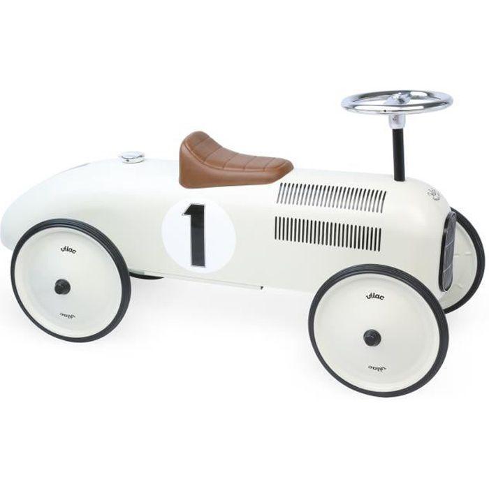 VILAC - Porteur voiture vintage blanc crème
