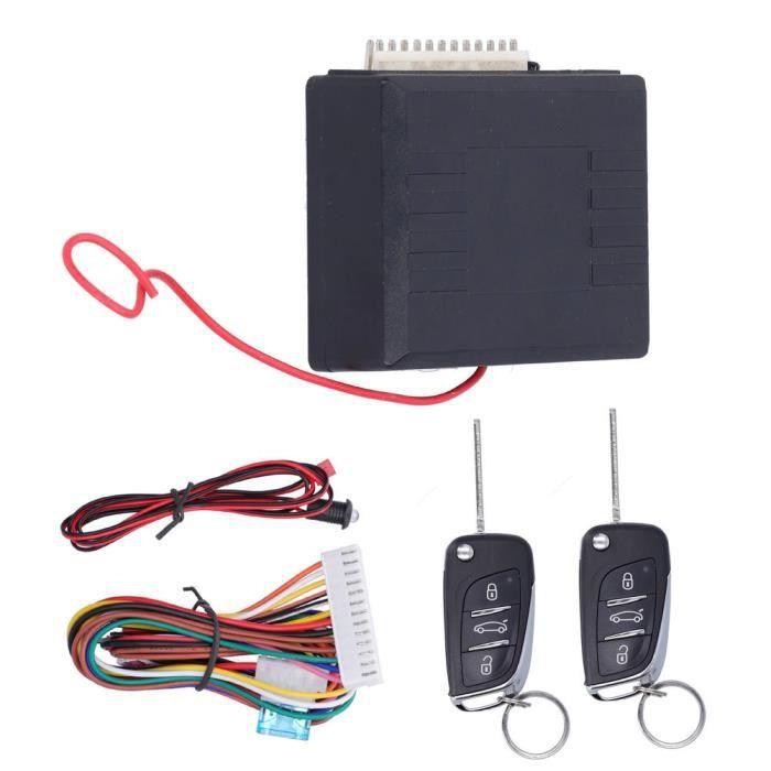 VINGVO Kit central à distance de voiture Kit universel de verrouillage de porte de sécurité à télécommande Système d'entrée