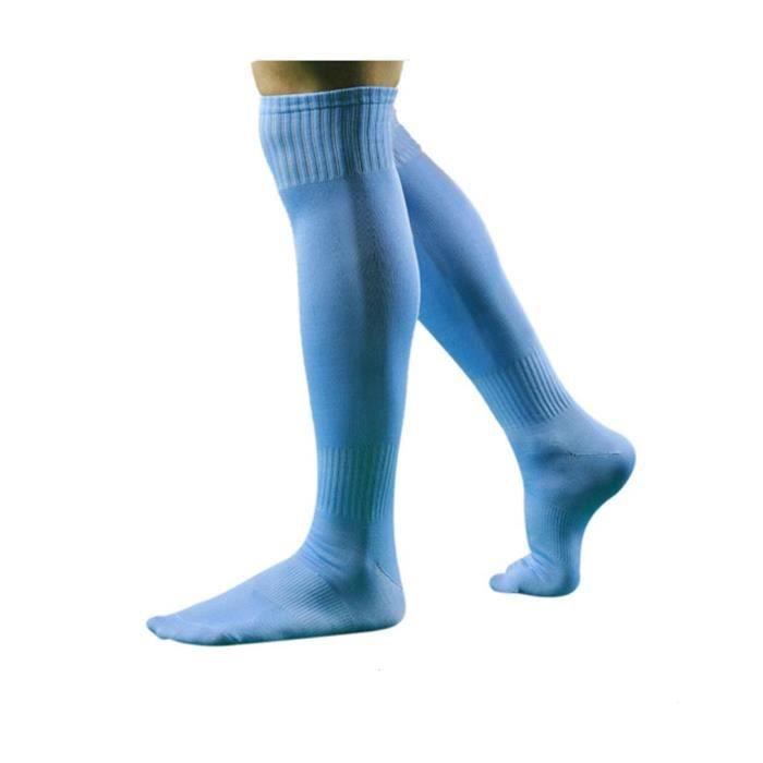 Chaussettes de Football Long pour Hommes 27/30-bleu ciel