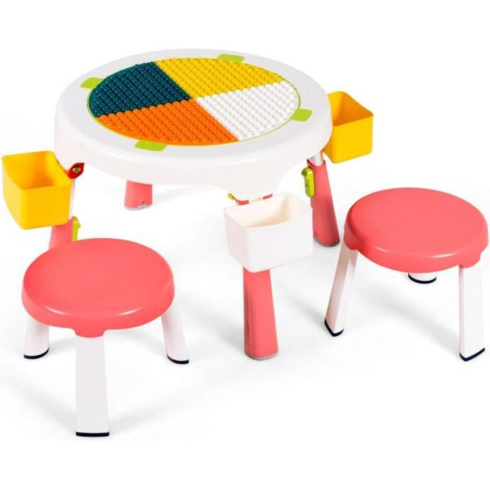 COSTWAY Bureau Enfant Ensemble Table et Chaise pour Enfants avec Lampe Hauteur R/églable Plaque de Table Inclinable pour Etude Travail Charge Max 80KG Gris