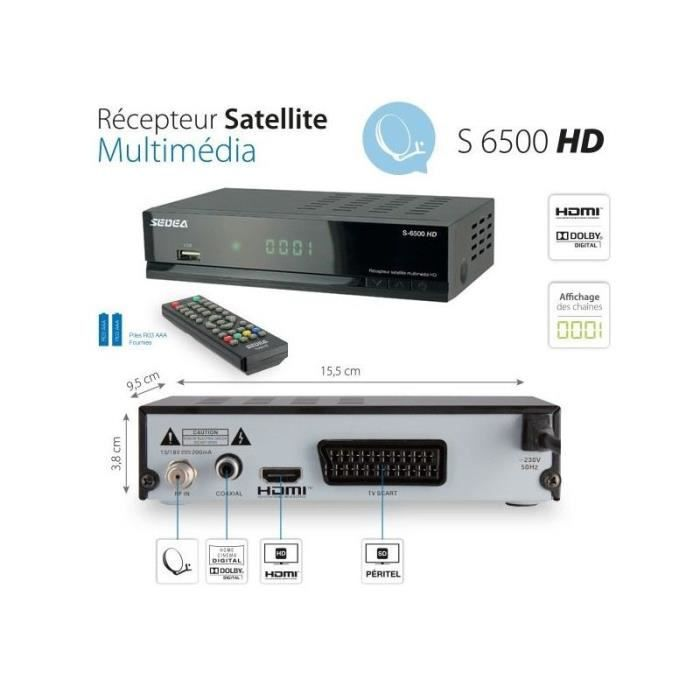 recepteur decodeur satellite hd universel usb hdmi peritel avec telecommande r cepteur. Black Bedroom Furniture Sets. Home Design Ideas