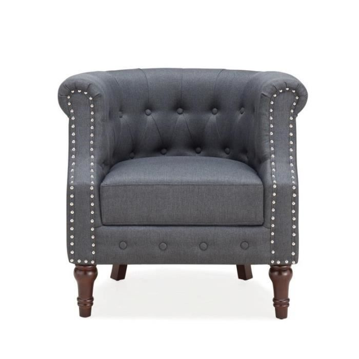 fauteuil chesterfield tissu achat vente fauteuil chesterfield tissu pas cher cdiscount. Black Bedroom Furniture Sets. Home Design Ideas