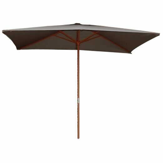 parasol droit rectangulaire bois 2 x 3 m taupe achat. Black Bedroom Furniture Sets. Home Design Ideas