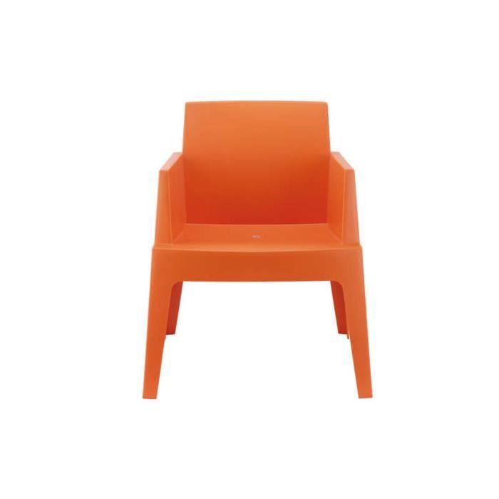 Chaise De Jardin Design ICE Orange