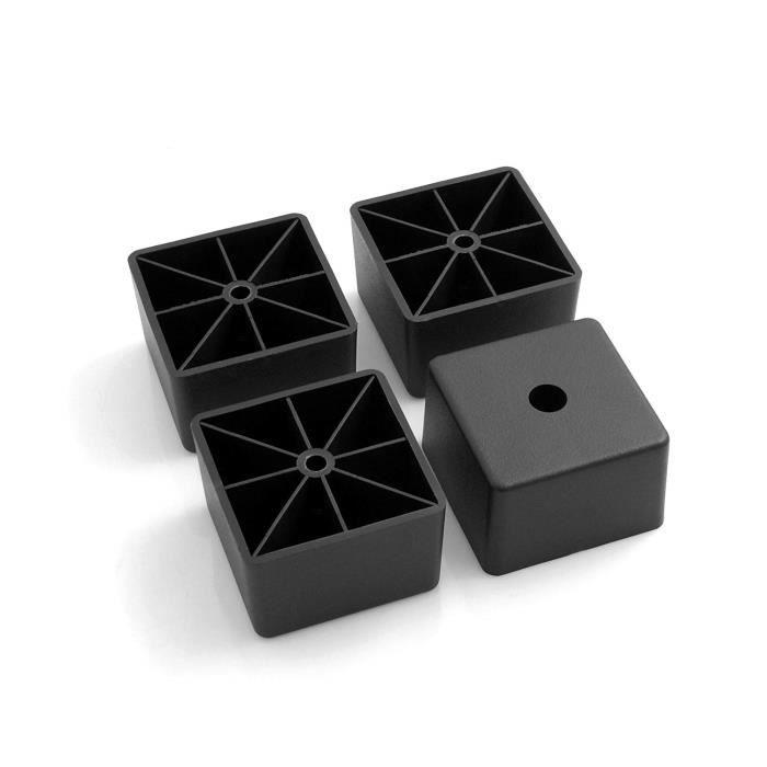 Design61 /À visser Lot de 4 patins en plastique pour meubles Hauteur/: 40 mm Noirs Diam/ètre/: 50 mm