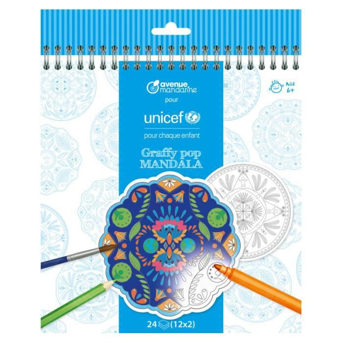 Accessoires Pour Enfant Album De Coloriage Mandala Unicef 6 Ans Et D 18 5 Cm Achat Vente Livre De Coloriage Cdiscount