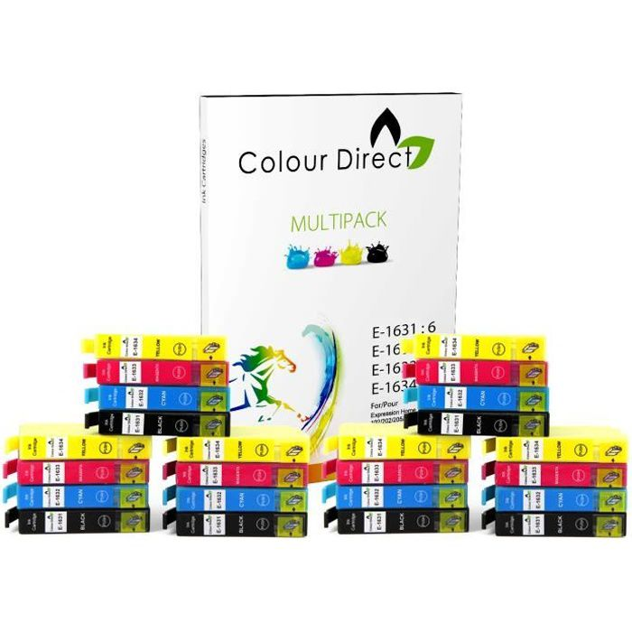 30 colourdirect cartouches d 39 encre pour epson wf2010w wf2510wf wf2520nf wf2530wf wf2540wf. Black Bedroom Furniture Sets. Home Design Ideas