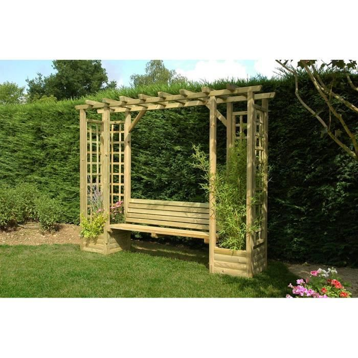 pergola avec banc de jardin. Black Bedroom Furniture Sets. Home Design Ideas