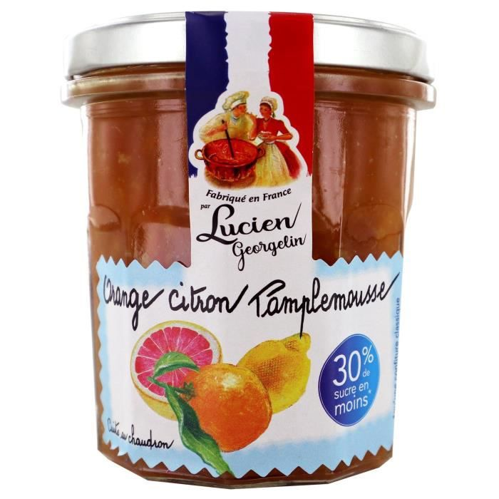 CONFITURE - MARMELADE LUCIEN GEORGELIN Confiture Extra Allégée d'Orange,