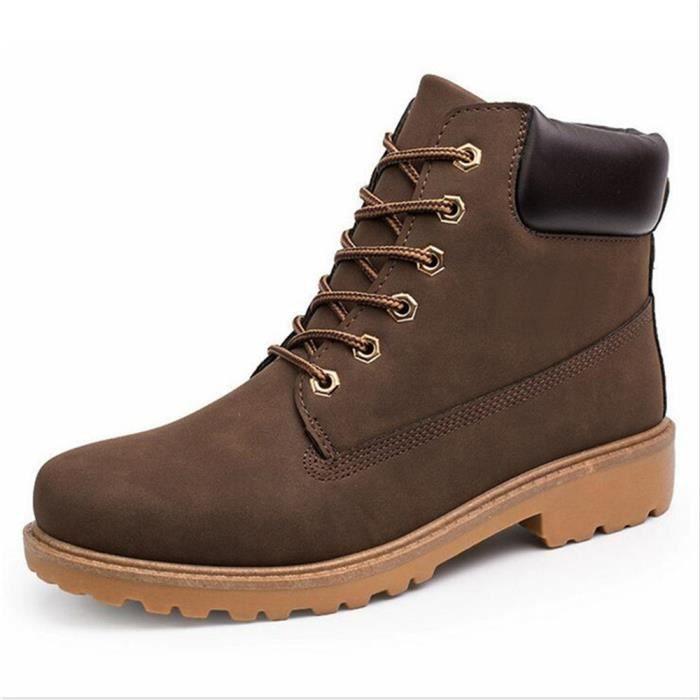 Martin Bottines Homme botte de pluie qualité supérieure Bottine chaussure  de chasse pour homme Nouvelle Mode Chaussure Grande Taille
